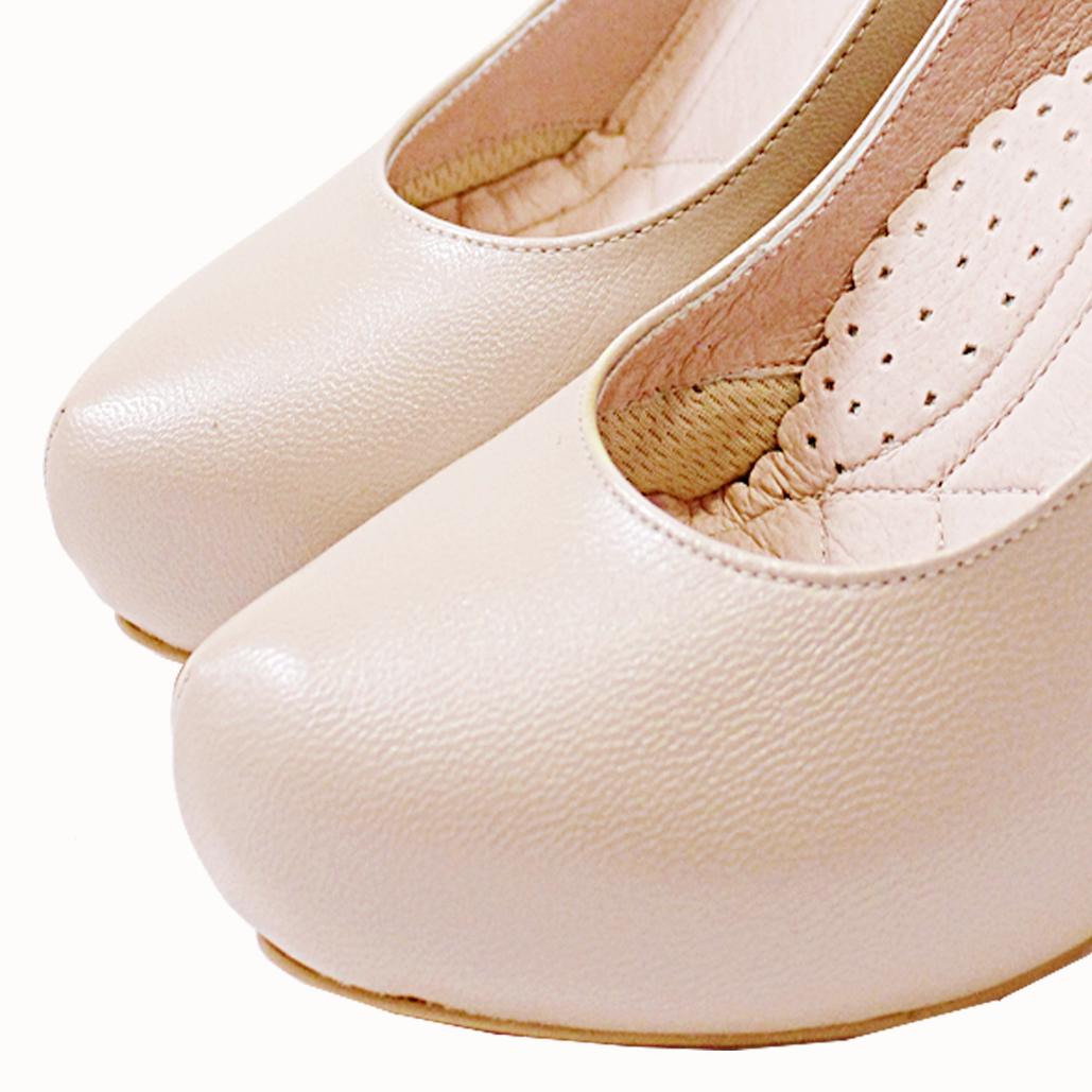 華麗內增高小羊皮晚宴鞋
