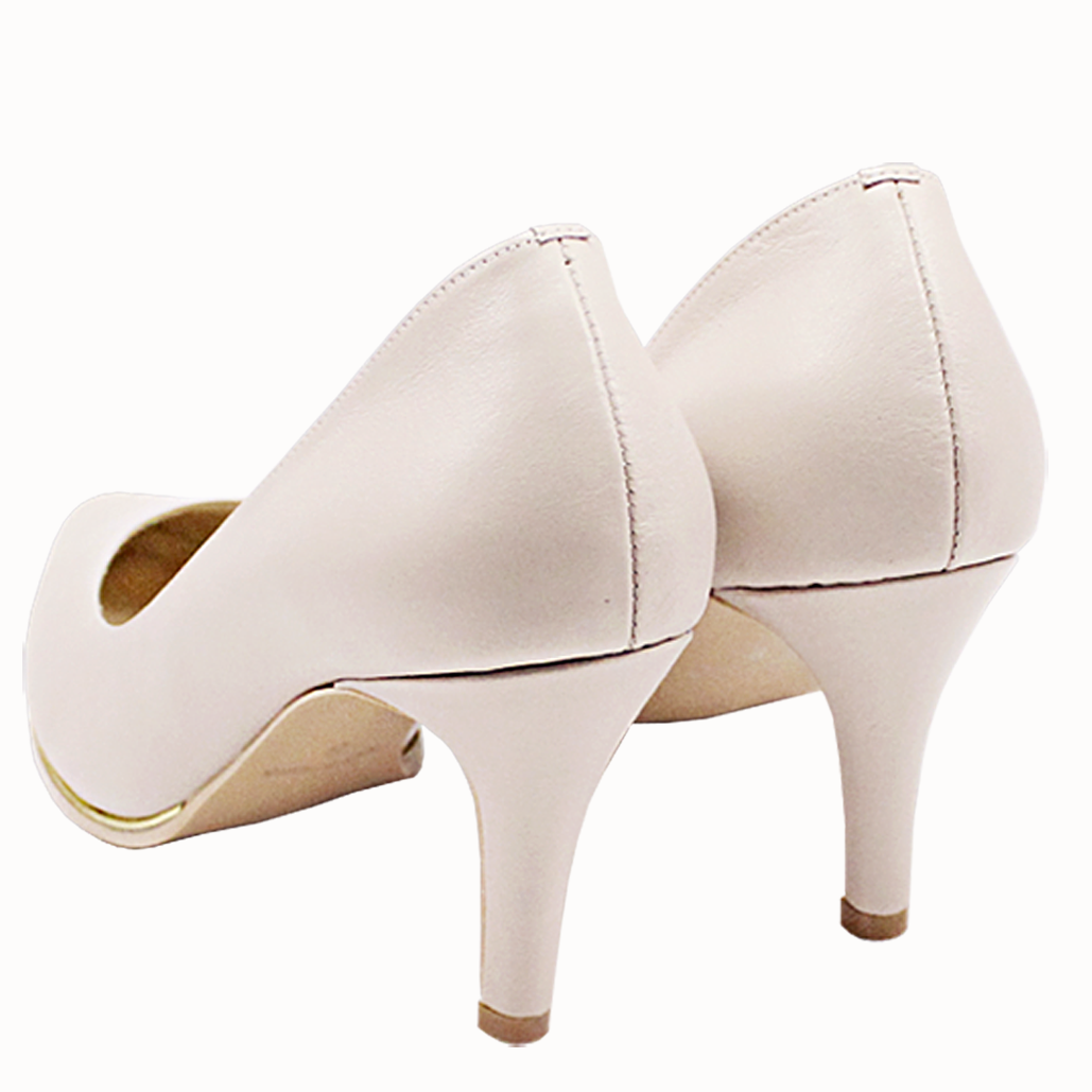 時尚基本款小羊皮尖頭跟鞋