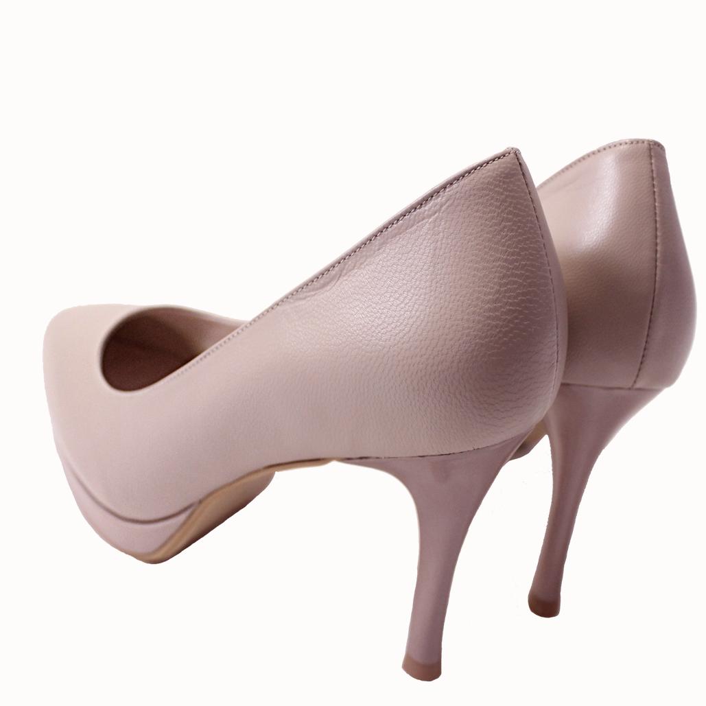 小羊皮3D足弓氣墊高跟鞋