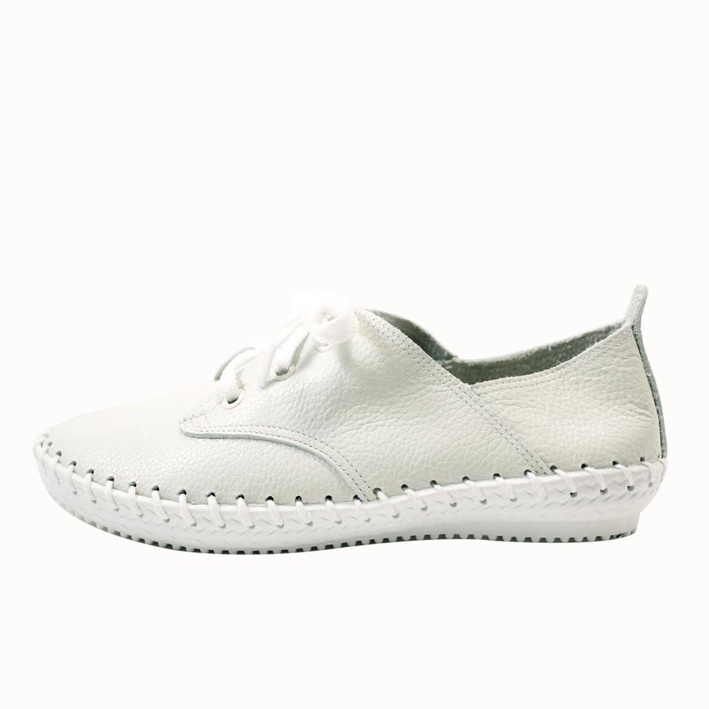 韓風荔枝紋小牛皮氣墊休閒鞋