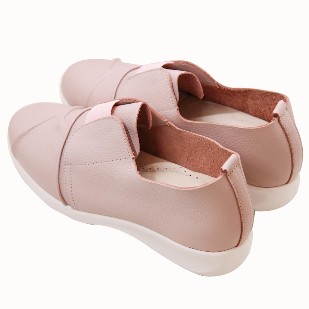 荔枝紋小牛皮輕量化厚底氣墊休閒鞋