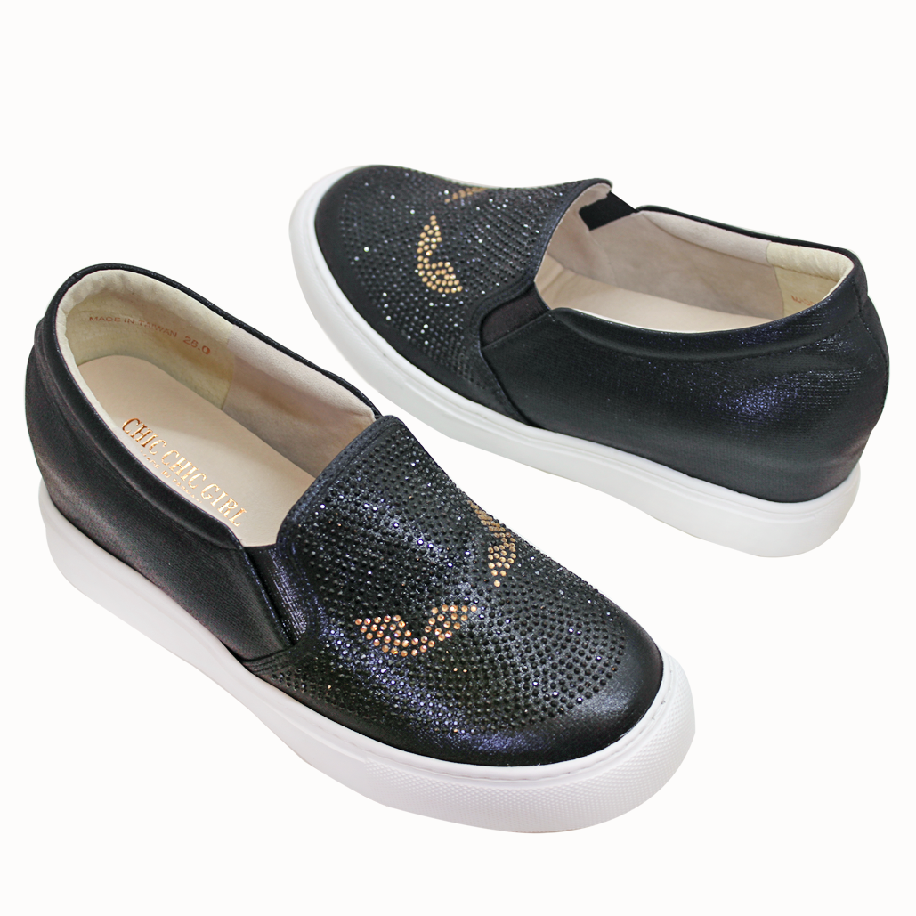 FENDI風怪獸系列輕量化厚底後增高板鞋