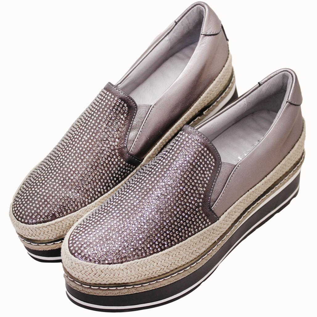 香奈兒風小牛皮厚底草編輕量化鞋