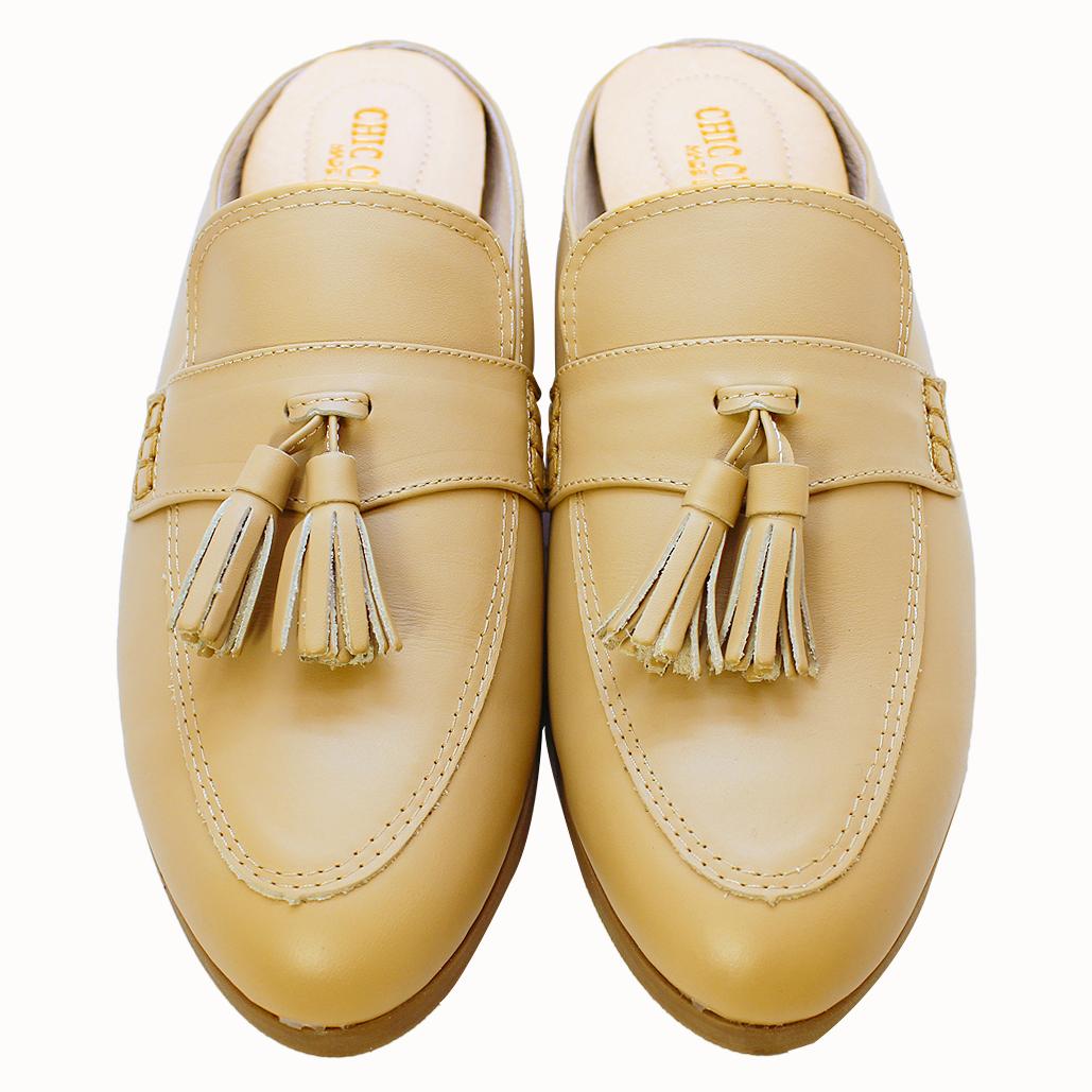 古馳風熱賣款小牛皮氣墊涼拖鞋