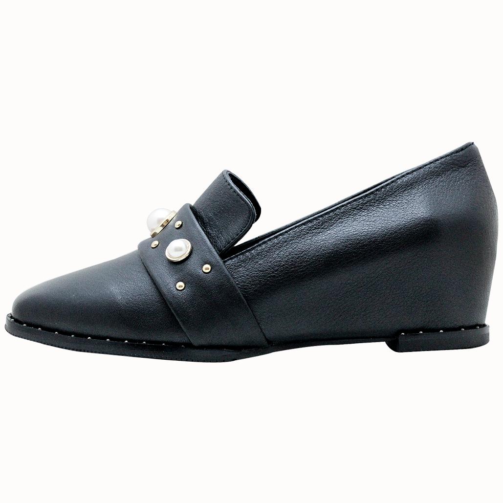 古馳風珍珠復古增高鞋