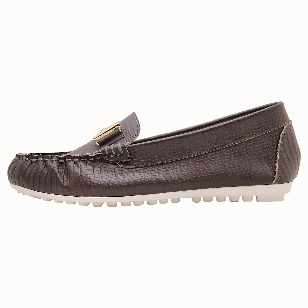 小牛皮鱷魚壓紋經典款氣墊便鞋