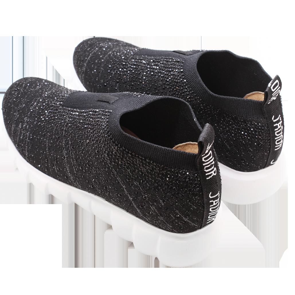 水鑽彈性萊卡氣墊厚底襪靴