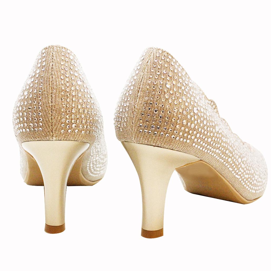 華麗進口亮鑽氣墊晚宴鞋