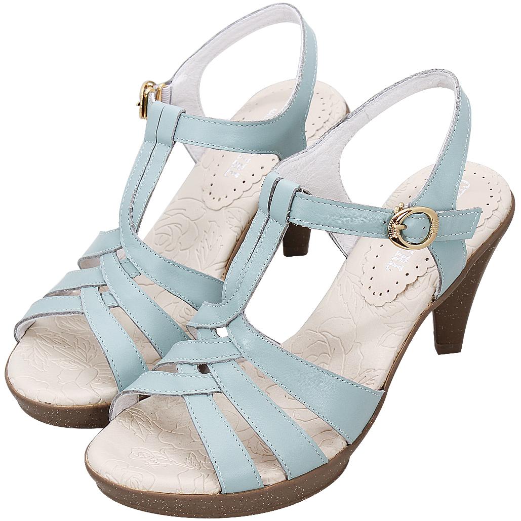 極致優雅小牛皮輕量化氣墊涼鞋