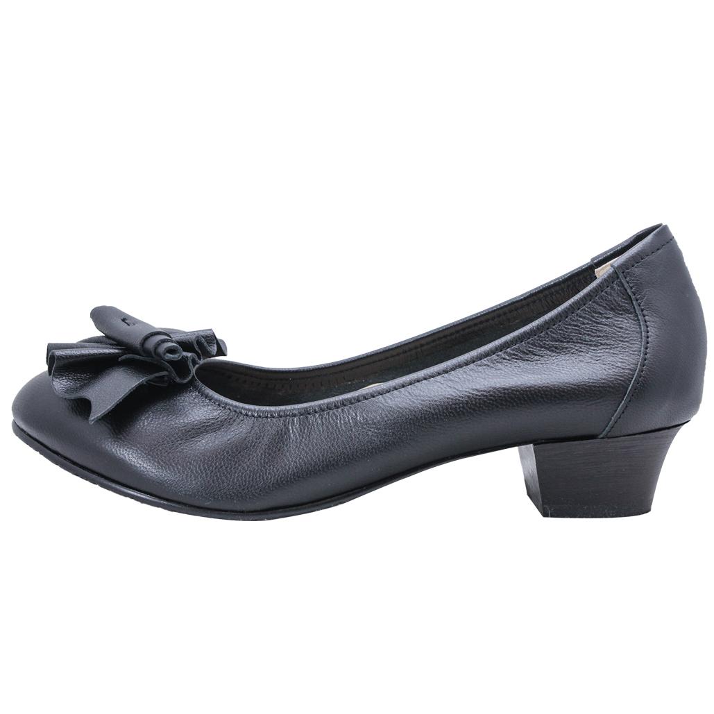 基本款小羊皮氣墊低跟鞋