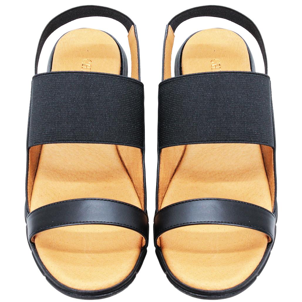 日系風綿羊皮拼接萊卡休閒涼鞋