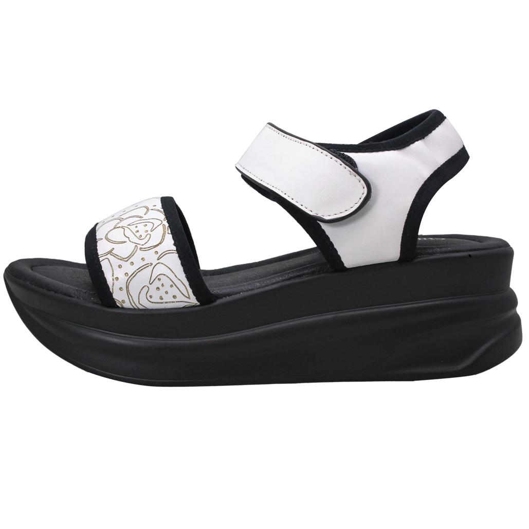 頂級小牛皮厚底增高運動涼鞋
