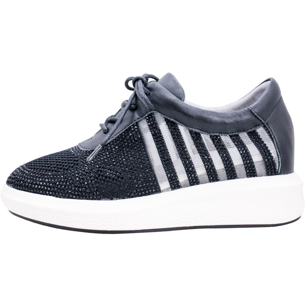 歐洲設計師款亮鑽小羊皮氣墊球鞋