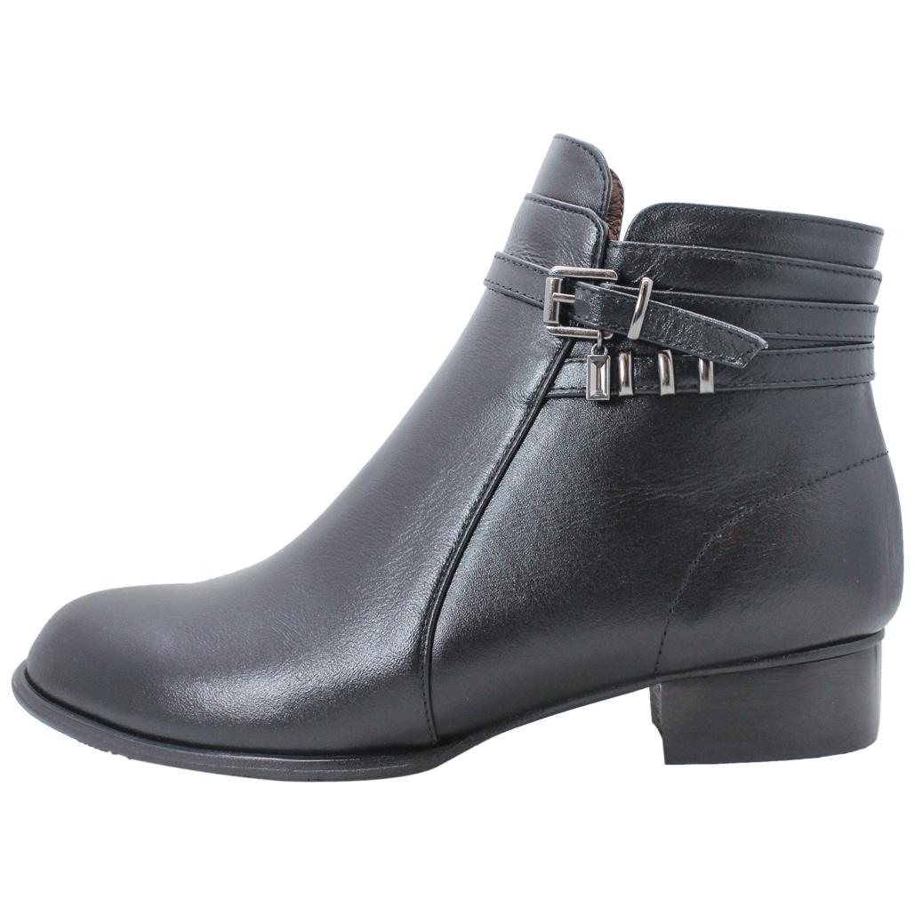 義大利頂級小羊皮低跟環釦短靴