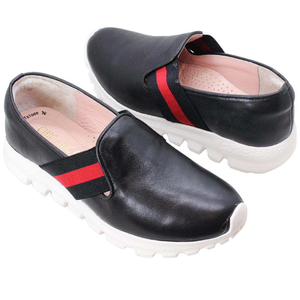 古馳風綿羊皮輕量休閒鞋
