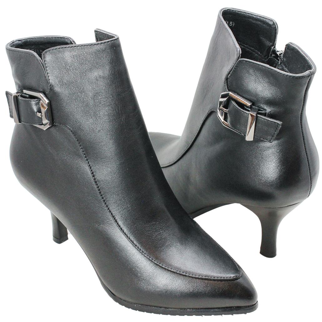 義大利頂級小牛皮環釦三吋短靴
