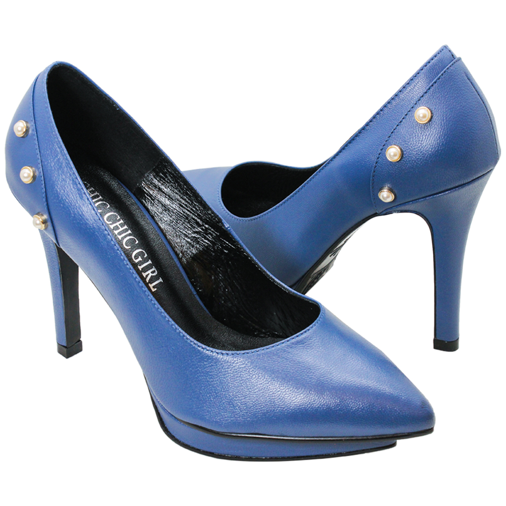 Gucci風小羊皮特殊水台跟鞋