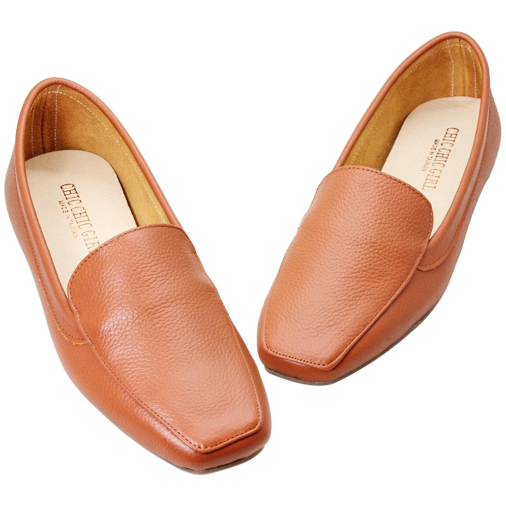 基本款荔枝紋小牛皮樂福鞋