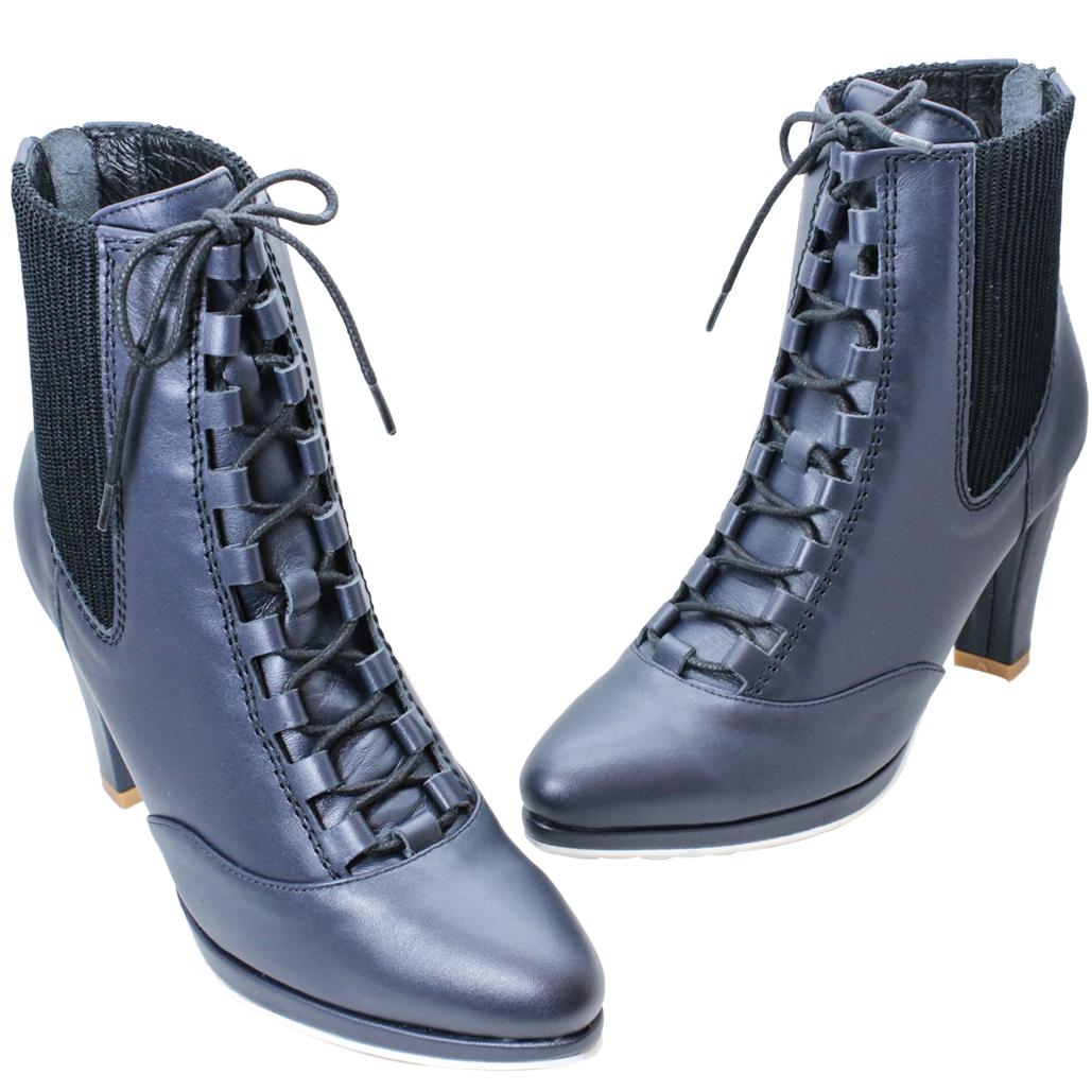 歐美時尚山羊皮綁帶雀爾希三吋短靴