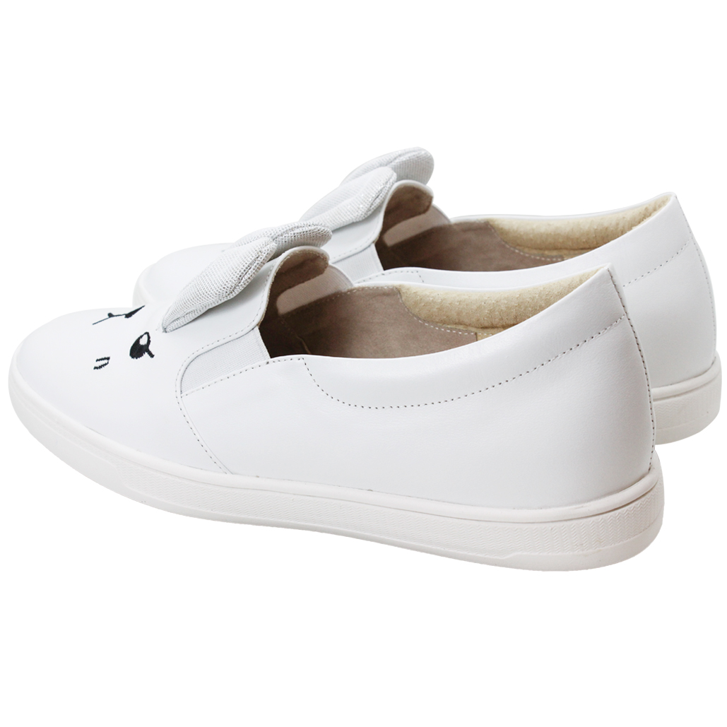 可愛兔兔小羊皮輕量化厚底休閒鞋