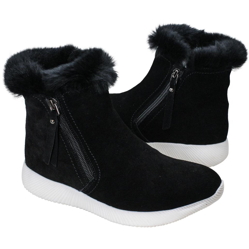 歐美風羊麂皮兔毛保暖雪靴