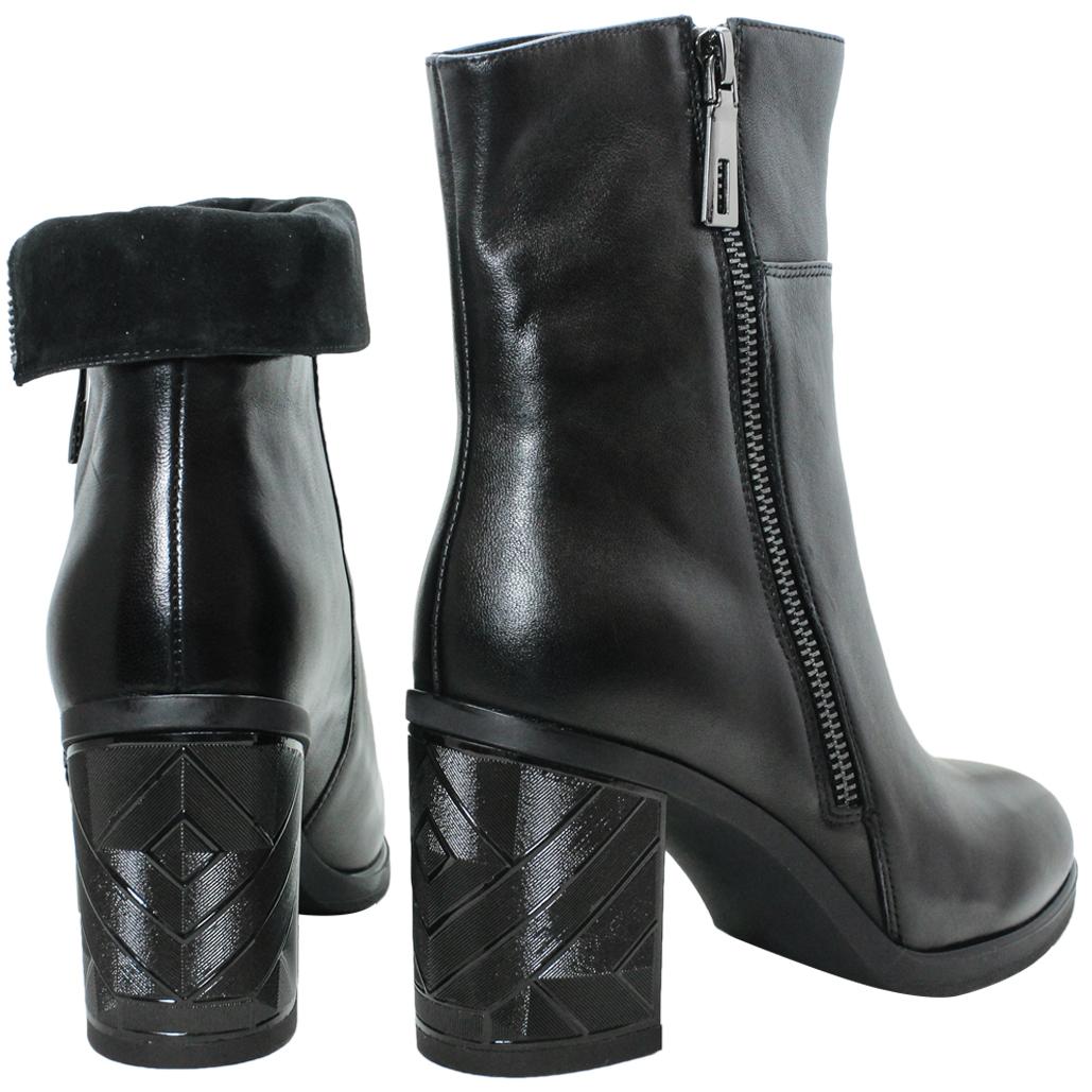 2WAY時尚兩穿小牛皮高跟短靴