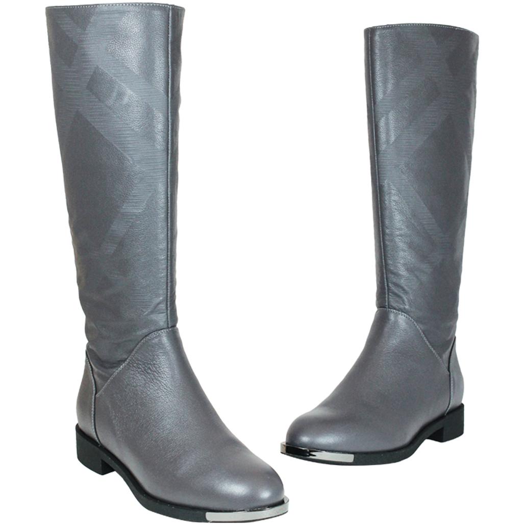 優雅特殊壓紋小牛皮長靴