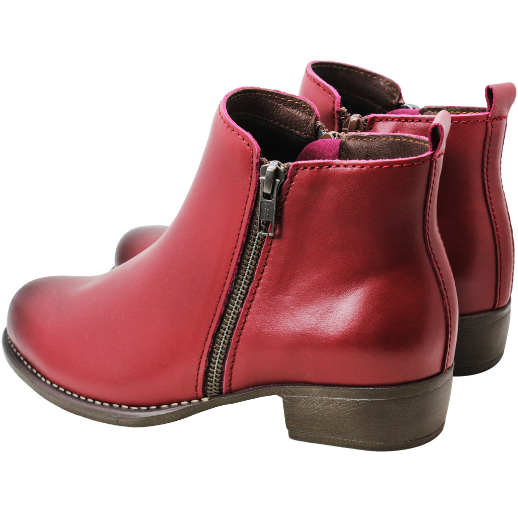 義大利頂級小牛皮側拉低跟短靴