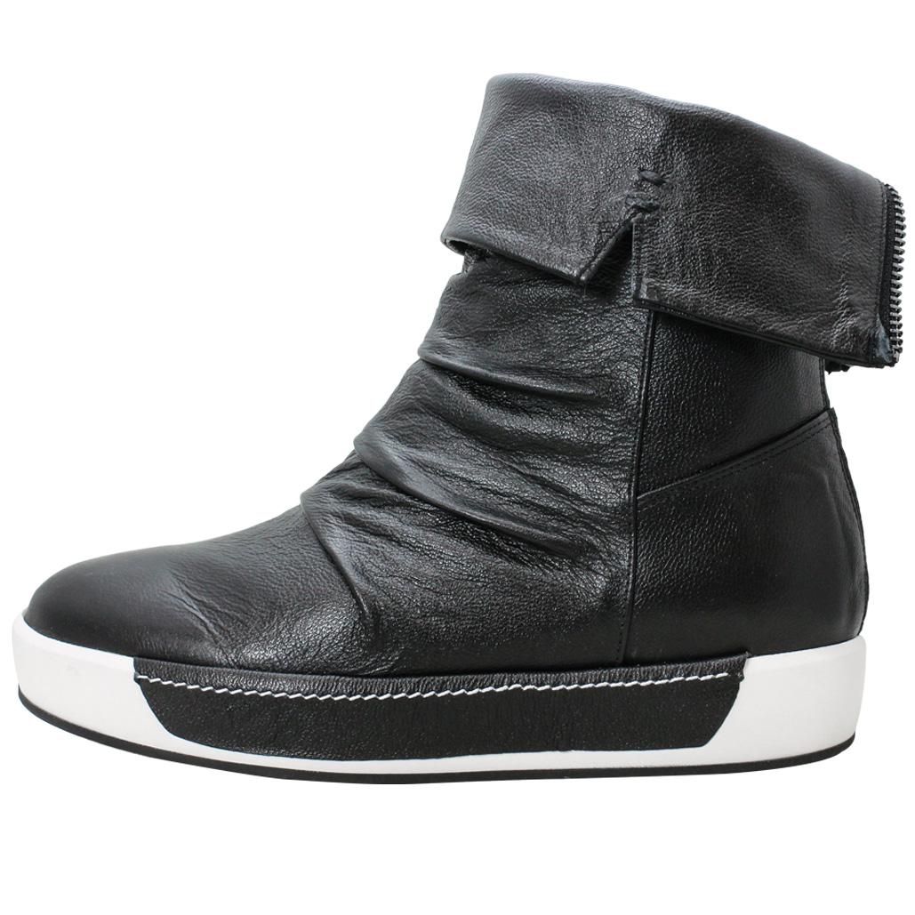 Y3風2WAY小牛皮時尚厚底中筒靴