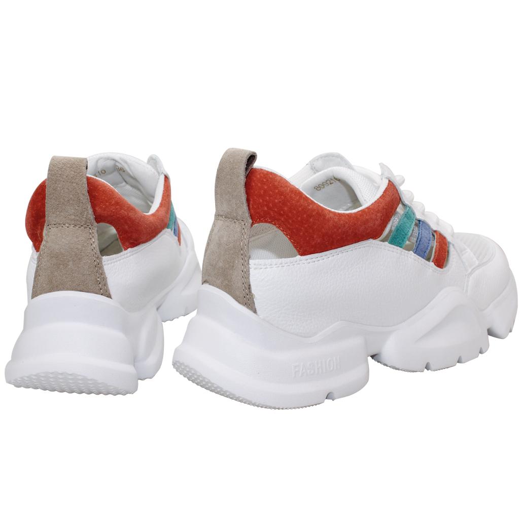彩色運動風簍空厚底休閒老爺鞋
