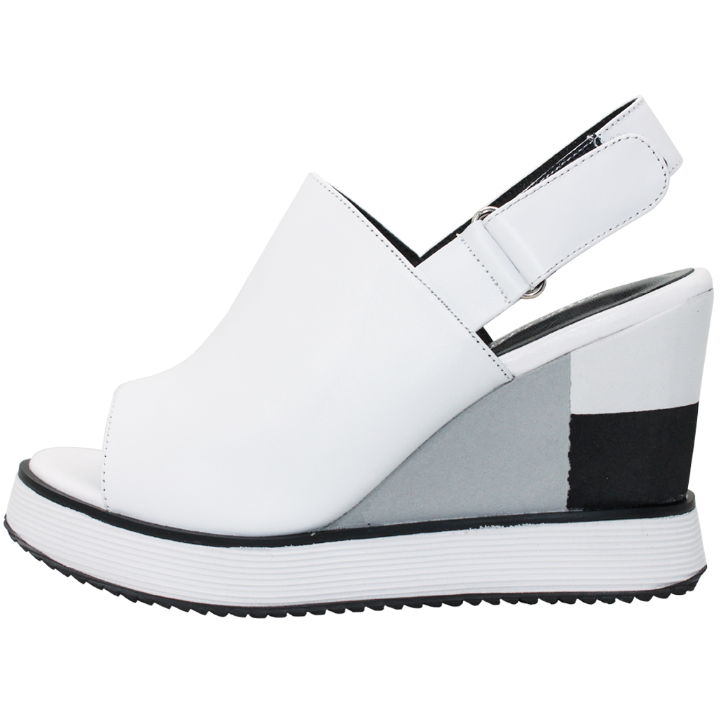 時尚小羊皮輕量增高楔形涼鞋