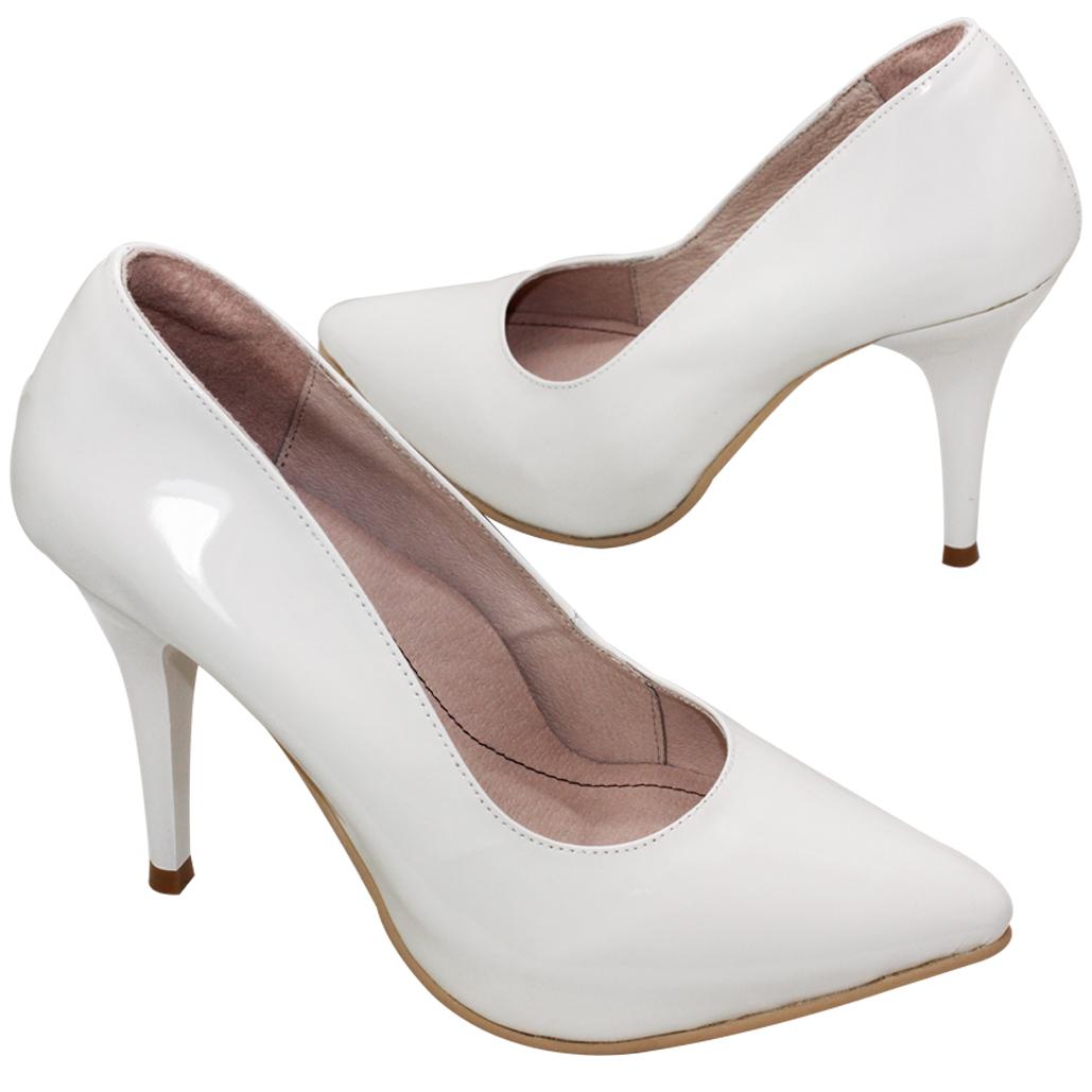 歐美時尚羊漆皮尖頭4吋跟鞋