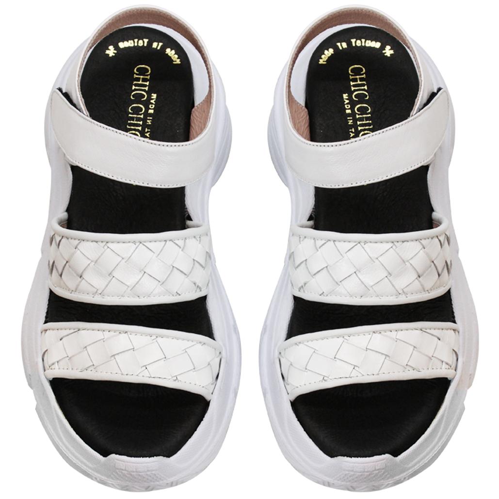BV風編織小牛皮輕量化涼鞋