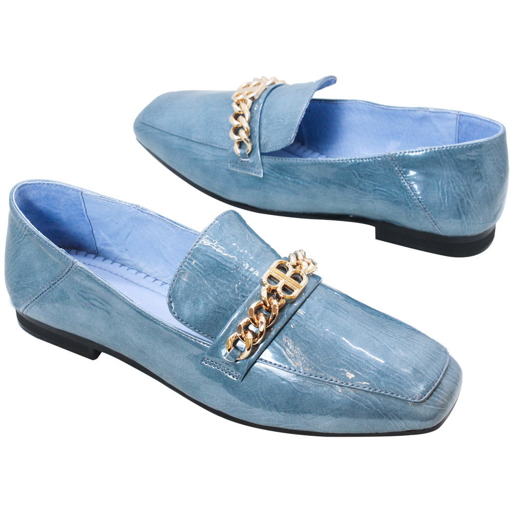 精品風羊漆皮時尚樂福鞋