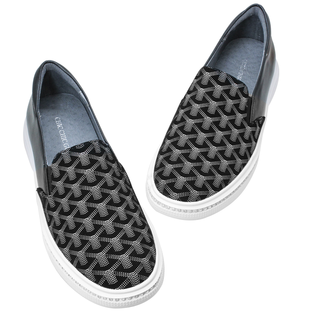 法式精品風羊麂皮厚底氣墊鞋