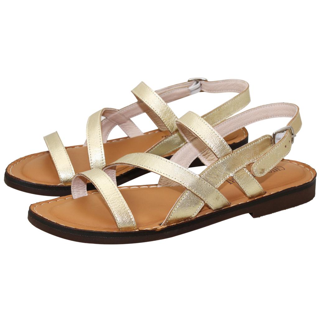 休閒風簡約線條小牛皮氣墊涼鞋