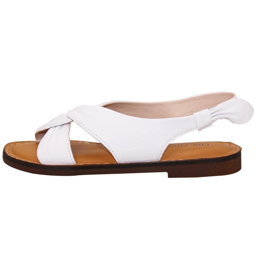 氣質風顯瘦交叉小牛皮氣墊涼鞋