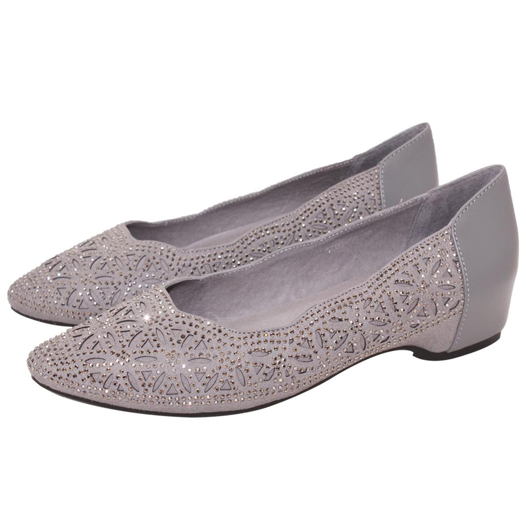 氣質雷雕水鑽尖頭羊麂皮後增高鞋