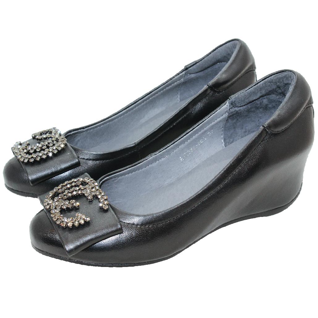小香風小羊皮輕量楔型鞋