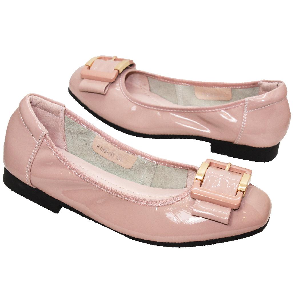超軟Q方釦羊漆皮娃娃鞋