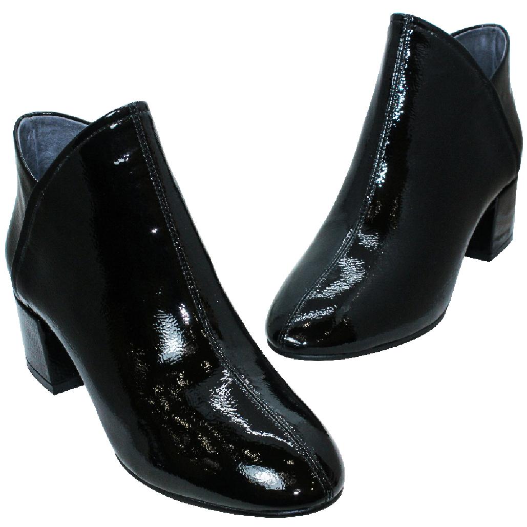 歐美風羊漆皮時尚顯瘦短靴