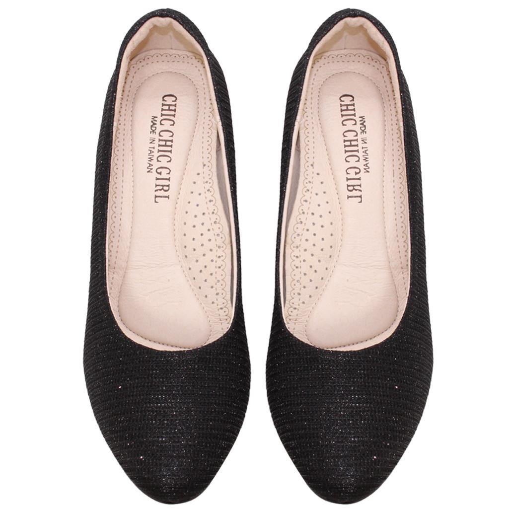 簡約款黑蔥小羊皮2吋跟鞋