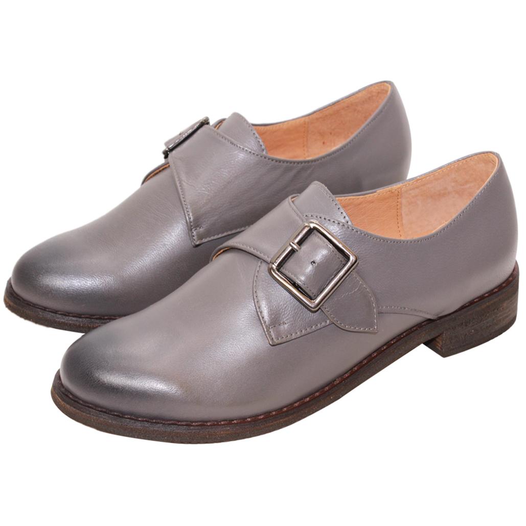 義大利頂級軟牛皮氣墊孟克鞋