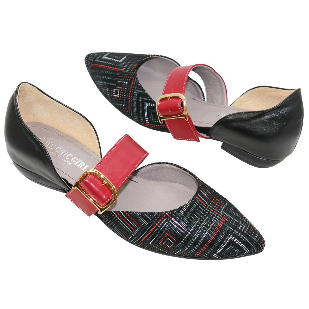 優雅復古尖頭瑪莉珍平底鞋