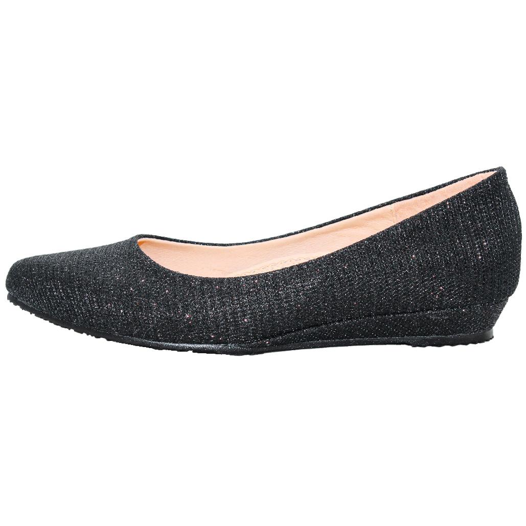 OL款黑蔥氣墊楔型鞋