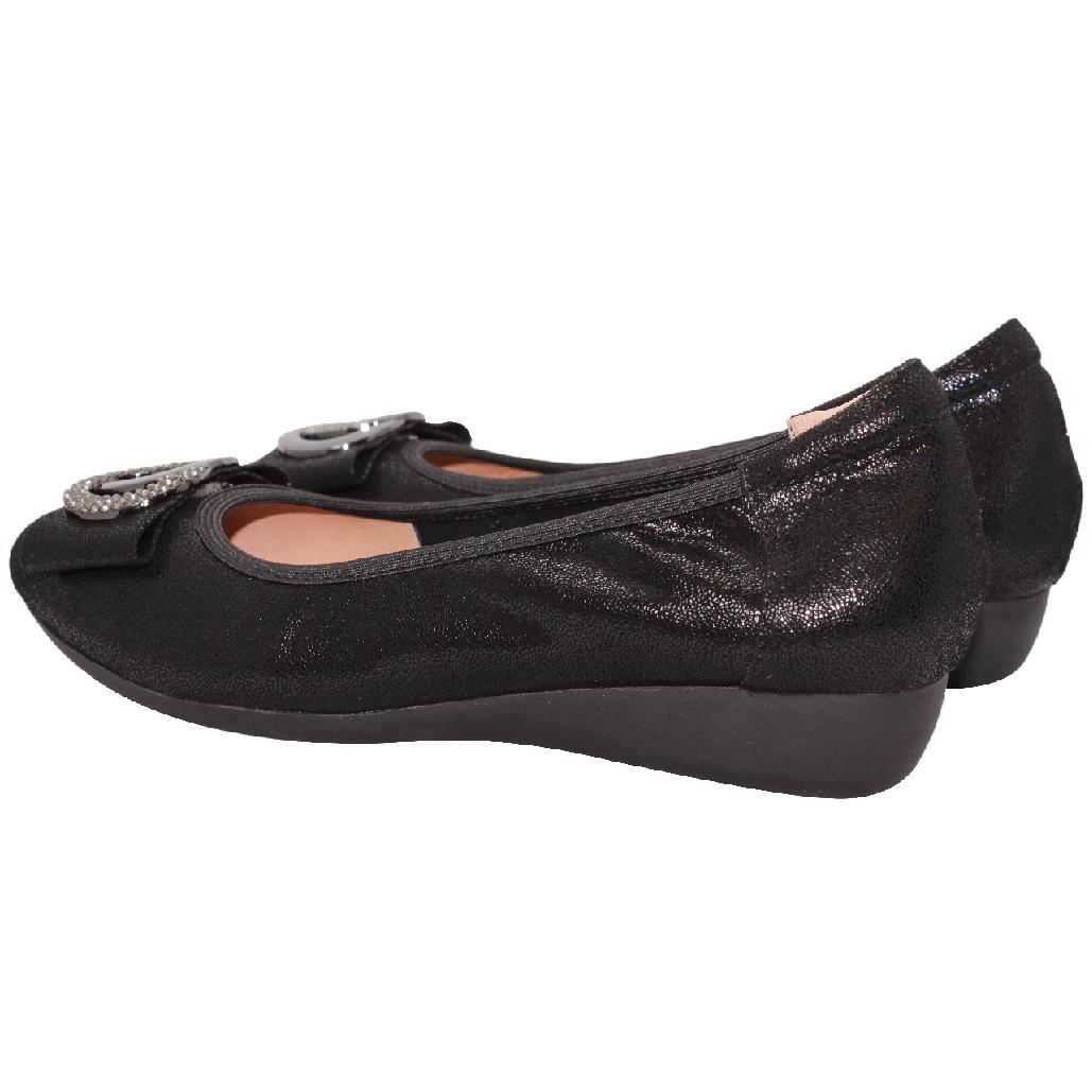 時尚小羊皮水鑽蝴蝶結小坡跟鞋