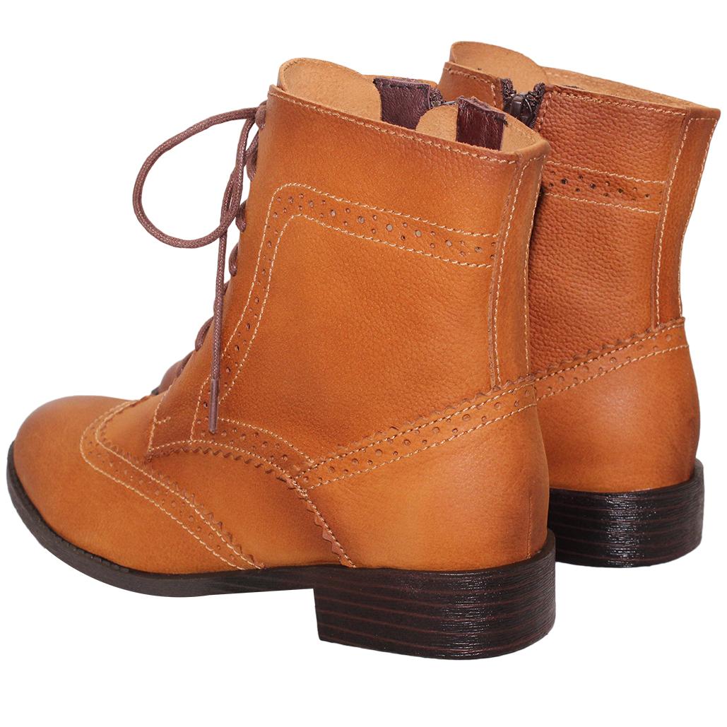 英倫風小牛皮牛津短靴