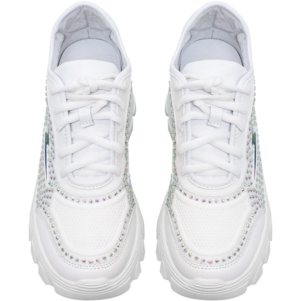 麥昆風閃電小羊皮鏤空增高休閒鞋