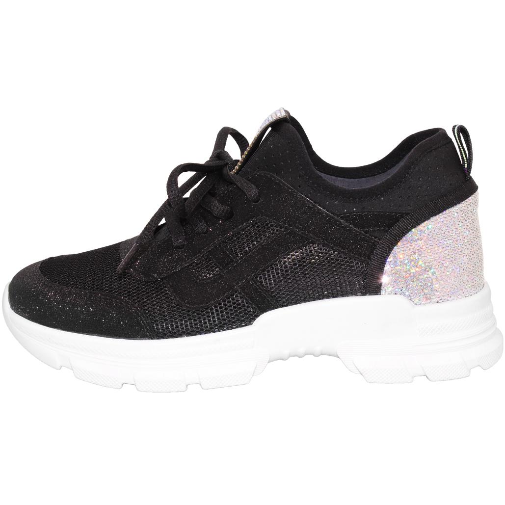 運動風飛織輕量涼感水鑽休閒鞋