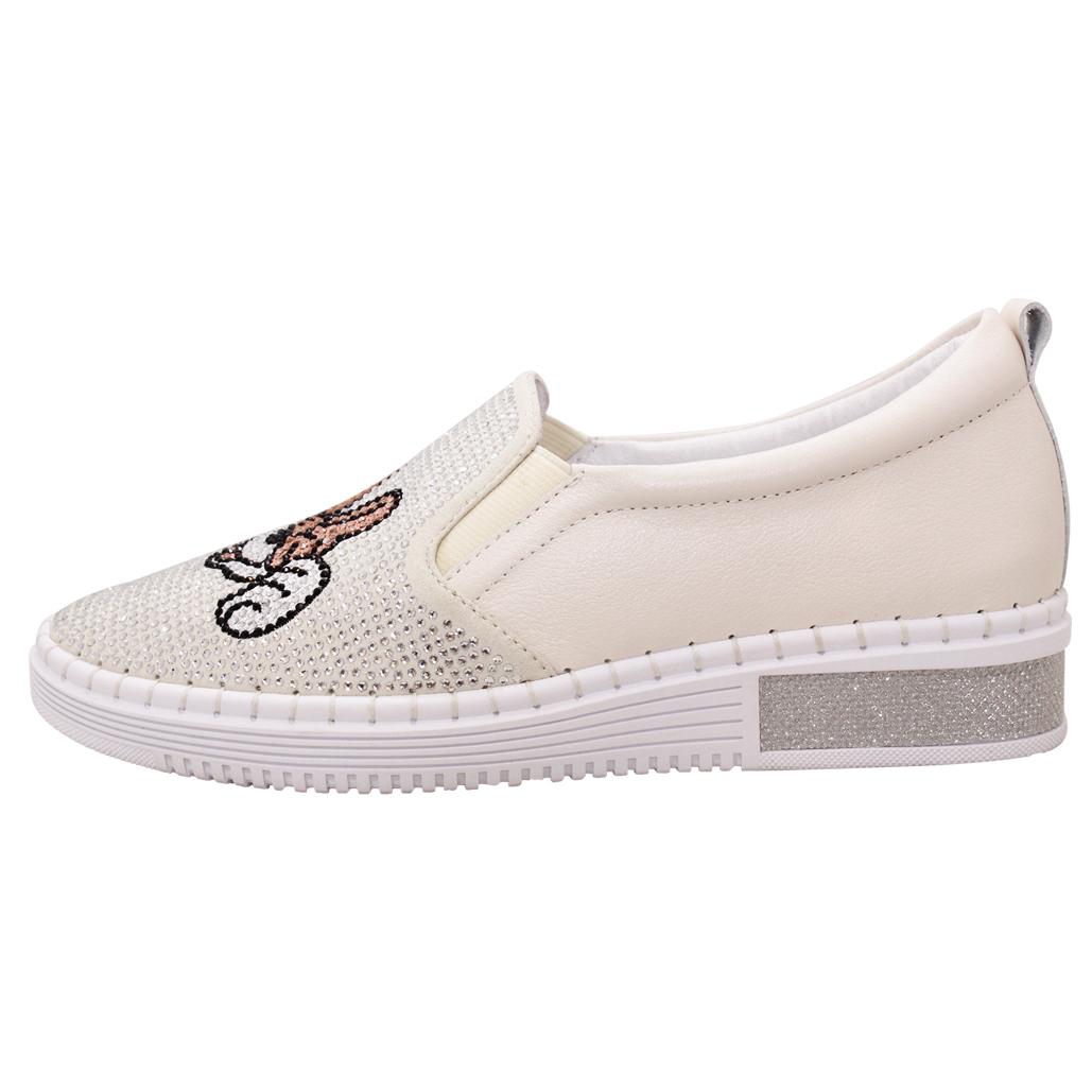 童趣亮鑽小羊皮厚底休閒鞋